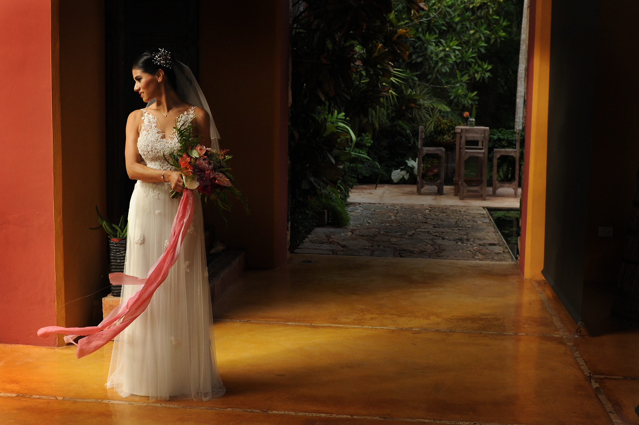 Wedding dress in hacienda Sac Chich Merida